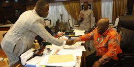 Multi-Award Minister Cwesi Oteng Presents Special Copy of His Anthem Album to the President