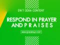 24/7 DOXA Content 2019 FRIDAY, 8th November-RESPOND IN PRAYER AND PRAISES