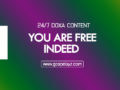 24/7 DOXA Content, 28th November -YOU ARE FREE INDEED