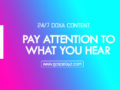 24/7 DOXA Content 2019 WEDNESDAY, 4th December-PAY ATTENTION TO WHAT YOU HEAR