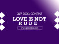 24/7 DOXA Content-Wednesday, 15th January-LOVE IS NOT RUDE