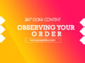 24/7 DOXA Content 2020 Monday, 20th January-OBSERVING YOUR ORDER