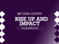 24/7 DOXA Content 2020 Friday, 10th January-RISE UP AND IMPACT