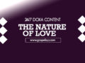 24/7 DOXA Content 2020 Tuesday, 14th January-THE NATURE OF LOVE