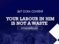 24/7 DOXA Content 2020 Thursday, 6th February-YOUR LABOUR IN HIM IS NOT A WASTE