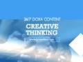 24/7 DOXA Content, 17th February-CREATIVE THINKING