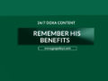 24/7 DOXA Content, 27th May-REMEMBER HIS BENEFITS