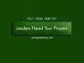 24/7 DOXA Content, 21st November-LEADERS NEED YOUR PRAYERS