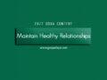 24/7 DOXA Content, 14th November-MAINTAIN HEALTHY RELATIONSHIPS