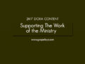 24/7 DOXA Content, 14th January-SUPPORTING THE WORK OF THE MINISTRY