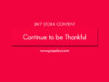24/7 DOXA Content, 14th February-CONTINUE TO BE THANKFUL