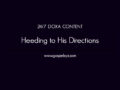 24/7 DOXA Content, 19th October-HEEDING TO HIS DIRECTIONS